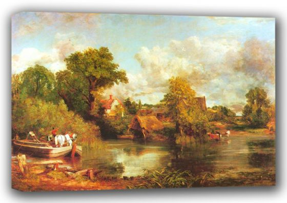 Constable, John: The White Horse. Fine Art English Landscape Canvas. Sizes: A3/A2/A1 (00907)